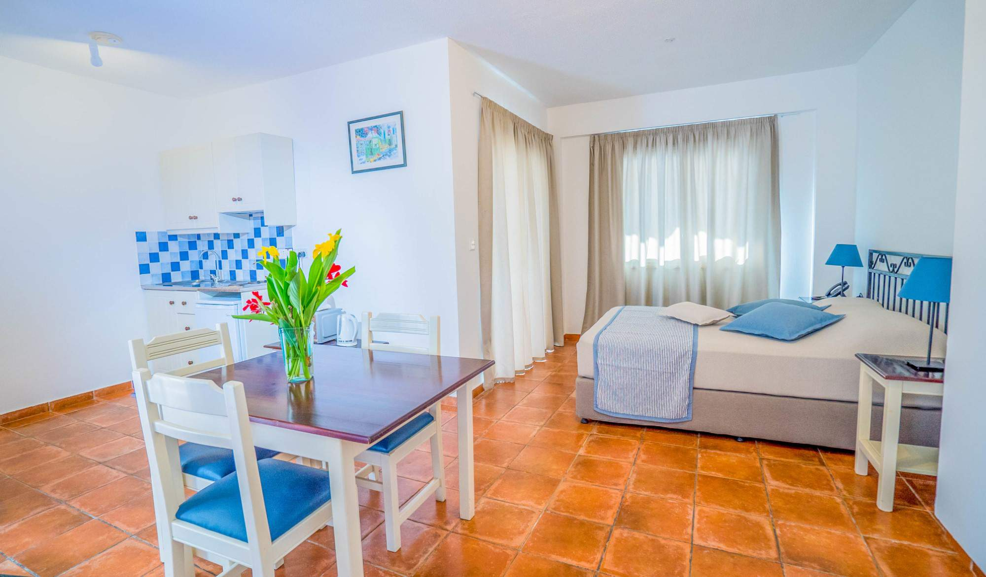 Living room and bedroom from Andreotis Apartments in Protaras