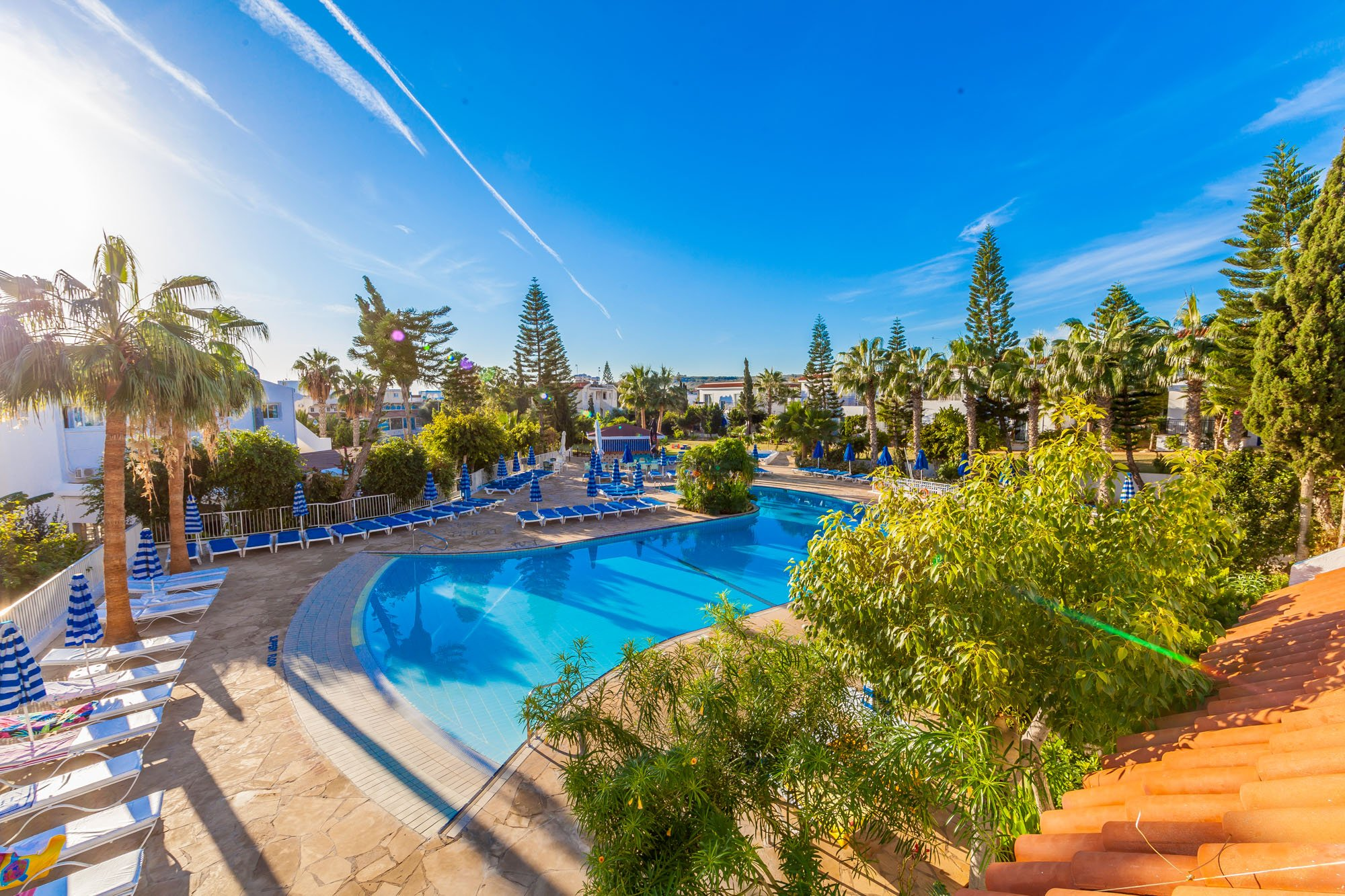 Protaras Value Accommodations, amazing pool view during a sunny day